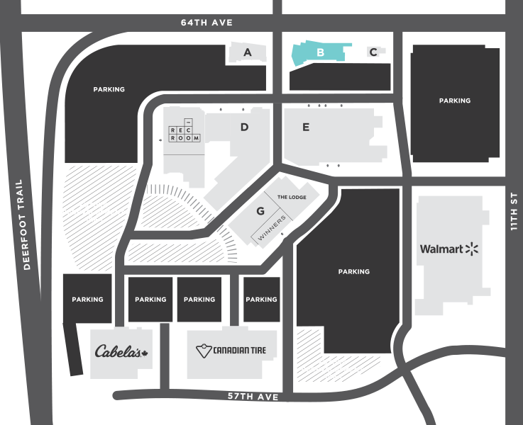 Calgary Dental House Map